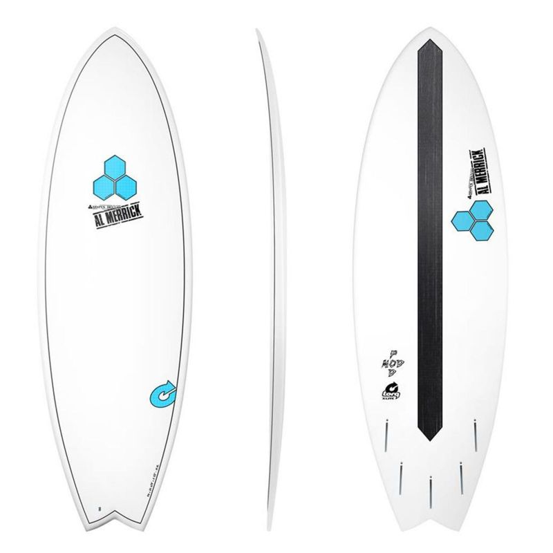 Surfboard CHANNEL ISLANDS X-lite Pod Mod 5.10 whit