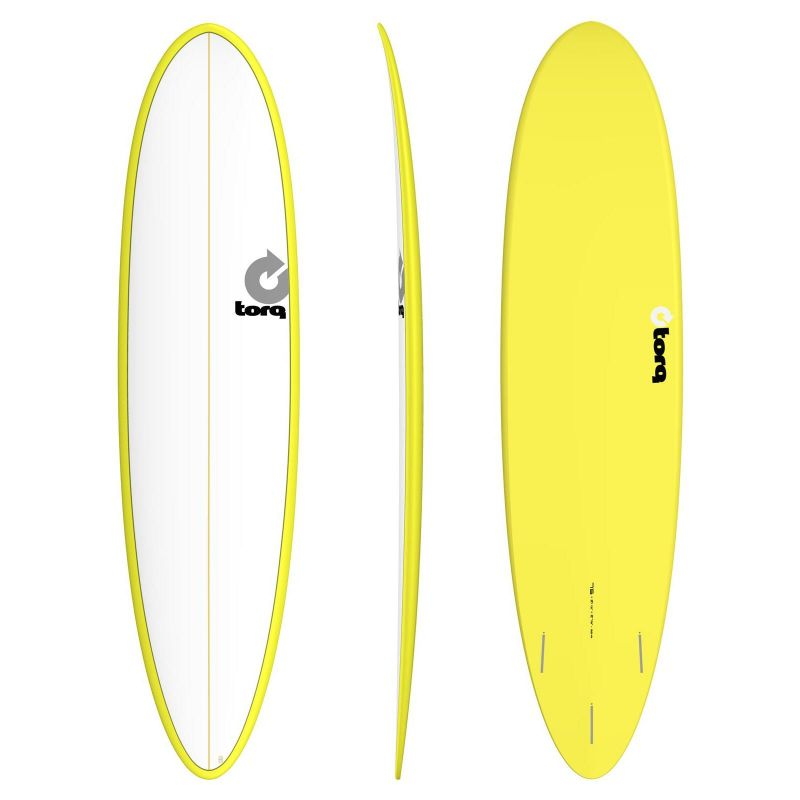 Surfboard TORQ Epoxy 7.6 Funboard White Yellow