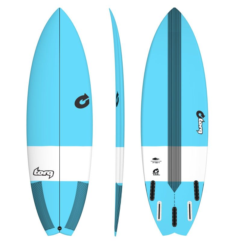 Surfboard TORQ TEC Performance Fish 6.6 blue