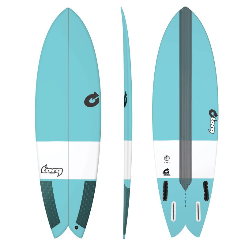 Surfboard TORQ TEC Fish 6.6 blue