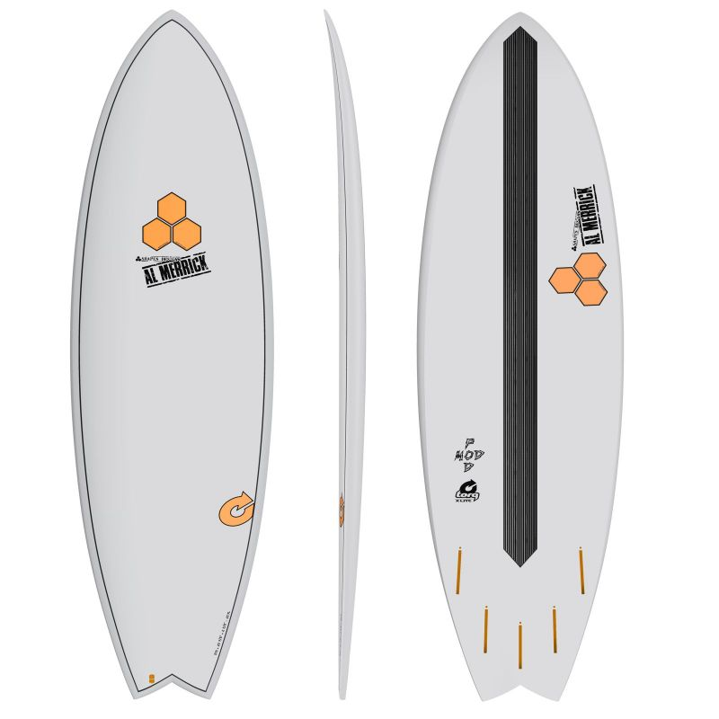 Surfboard CHANNEL ISLANDS X-lite Pod Mod 5.6 grey