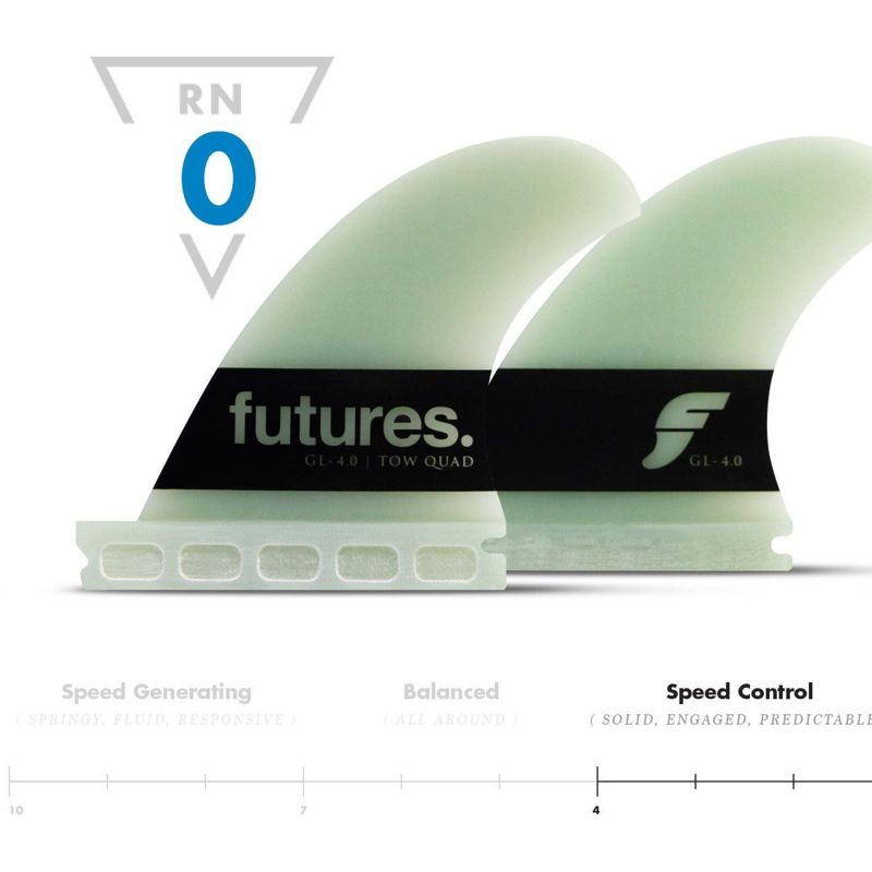 FUTURES Fins Big Wave Quad Set G Lopez 4.00 G10