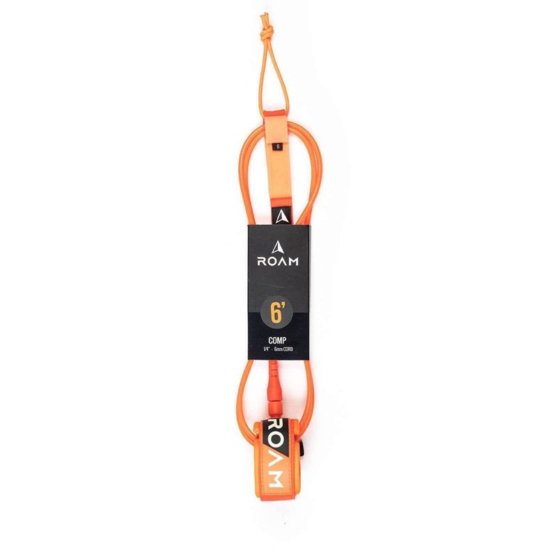 ROAM Surfboard Leash Comp 6.0 183cm 6mm Orange