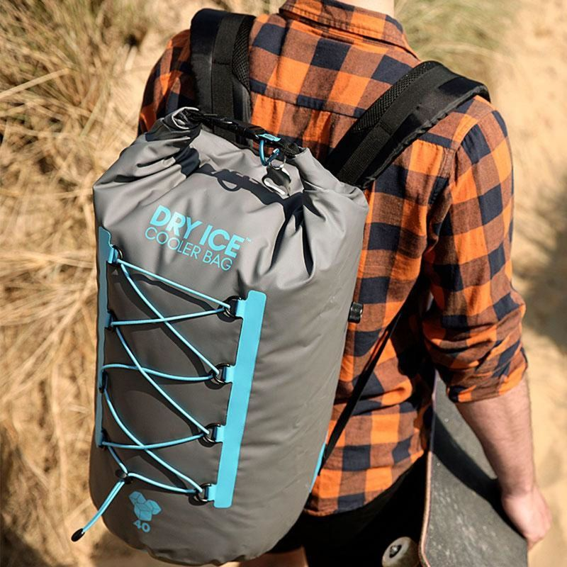 Dry Ice Premium Cooler Backpack 40 Lit - Gray