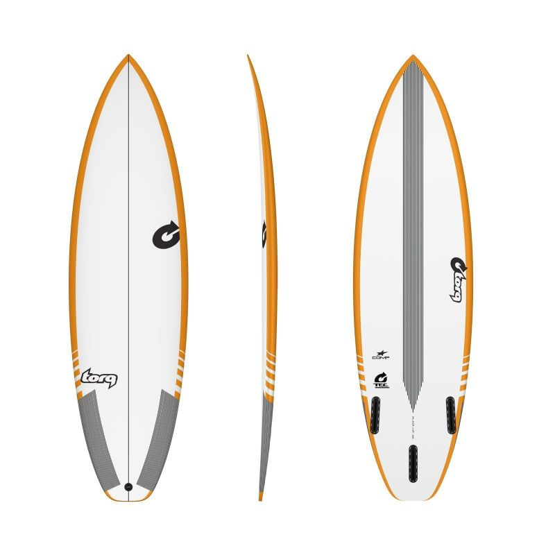 Surfboard TORQ TEC Comp 6.2 Rail Yellow