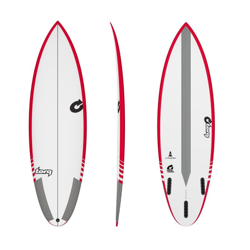 Surfboard TORQ TEC Thruster 6.0 Rail Red