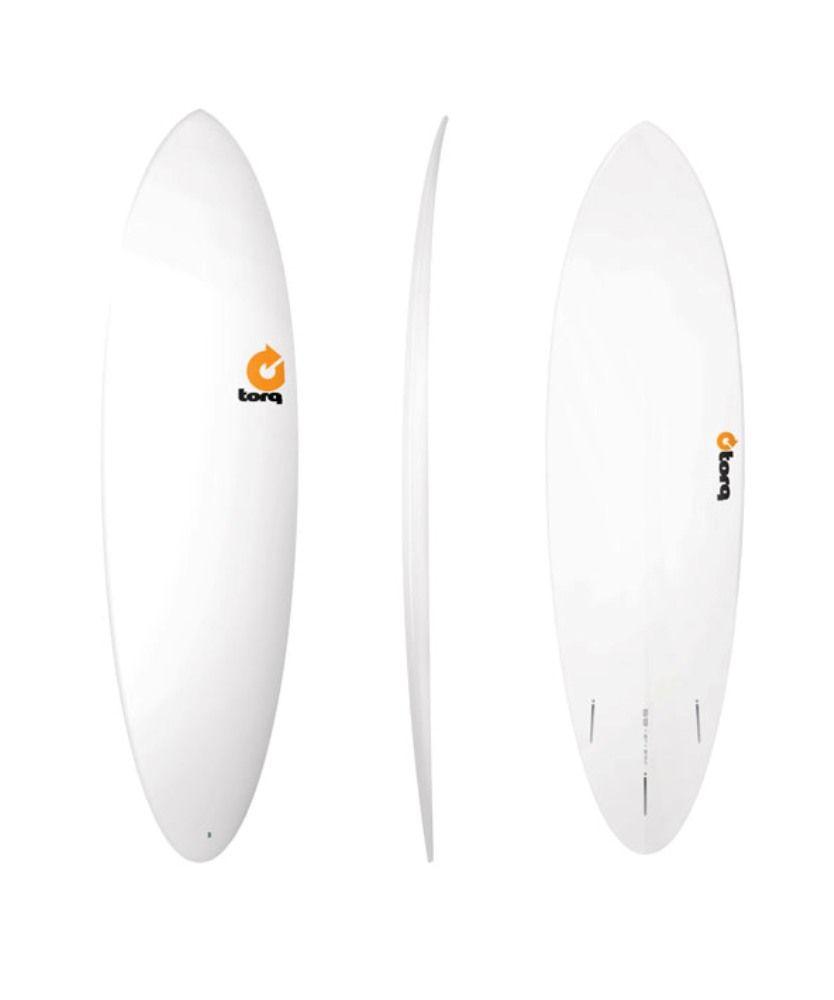 Surfboard TORQ Epoxy TET 6.8 Funboard  White
