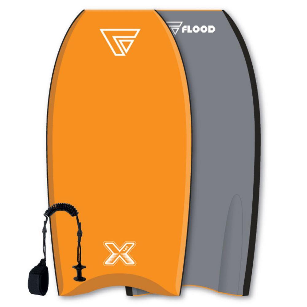 FLOOD Bodyboard Dynamx Stringer 41 Orange-gris