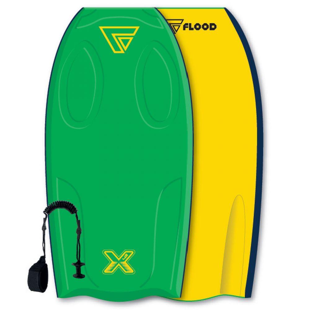 FLOOD Bodyboard Dynamx Stringer 42 Gr�n-jaune