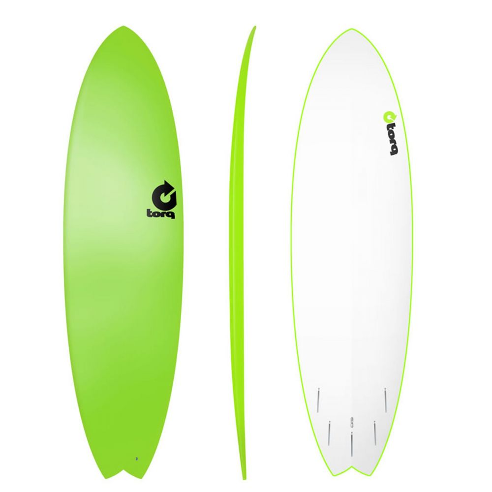 Surfboard TORQ Softboard 6.10 Fish Yellow