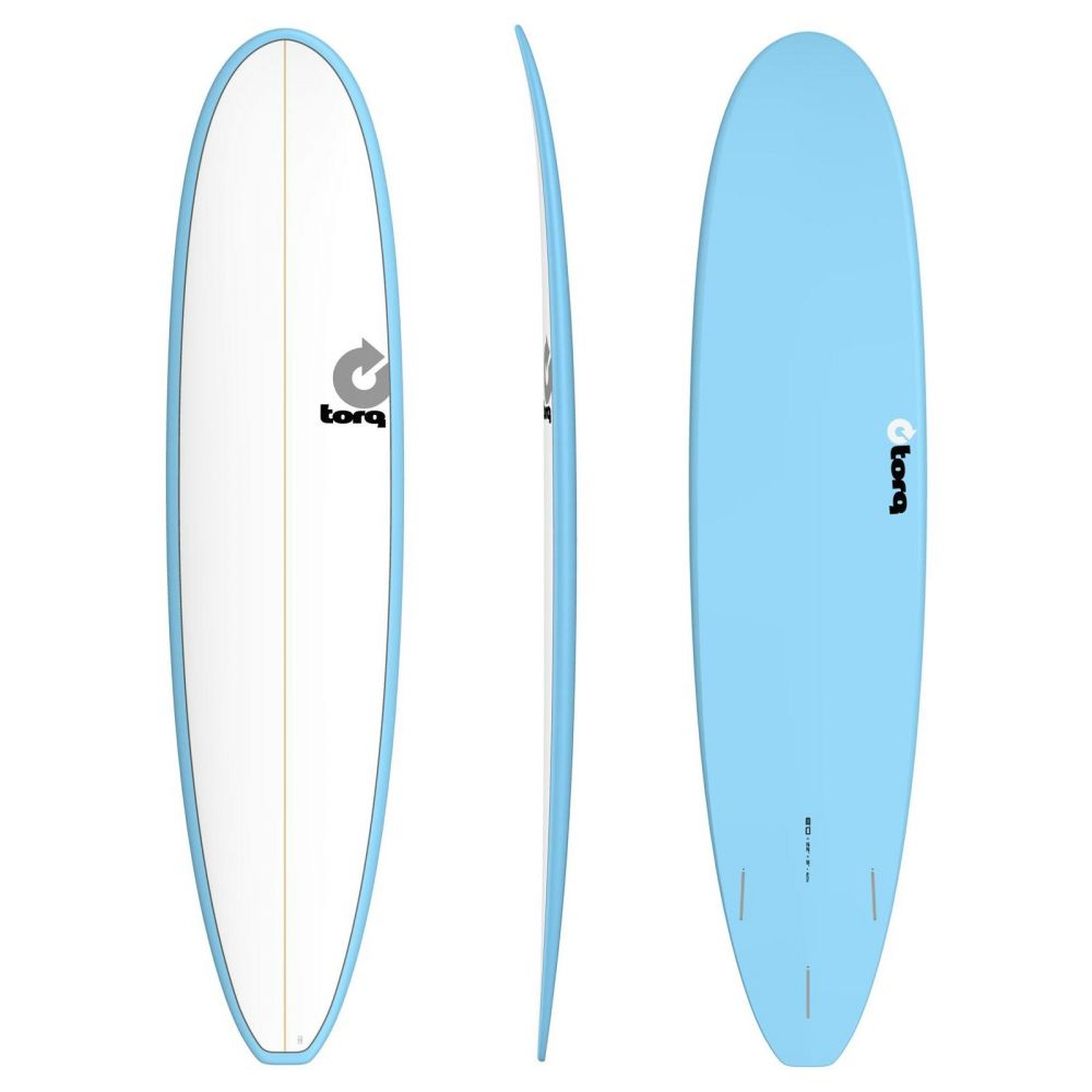 Surfboard TORQ Epoxy 8.0 Longboard White Blue