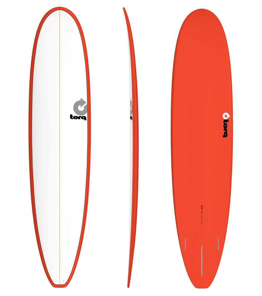 Surfboard TORQ Epoxy 8.6 Longboard White Red
