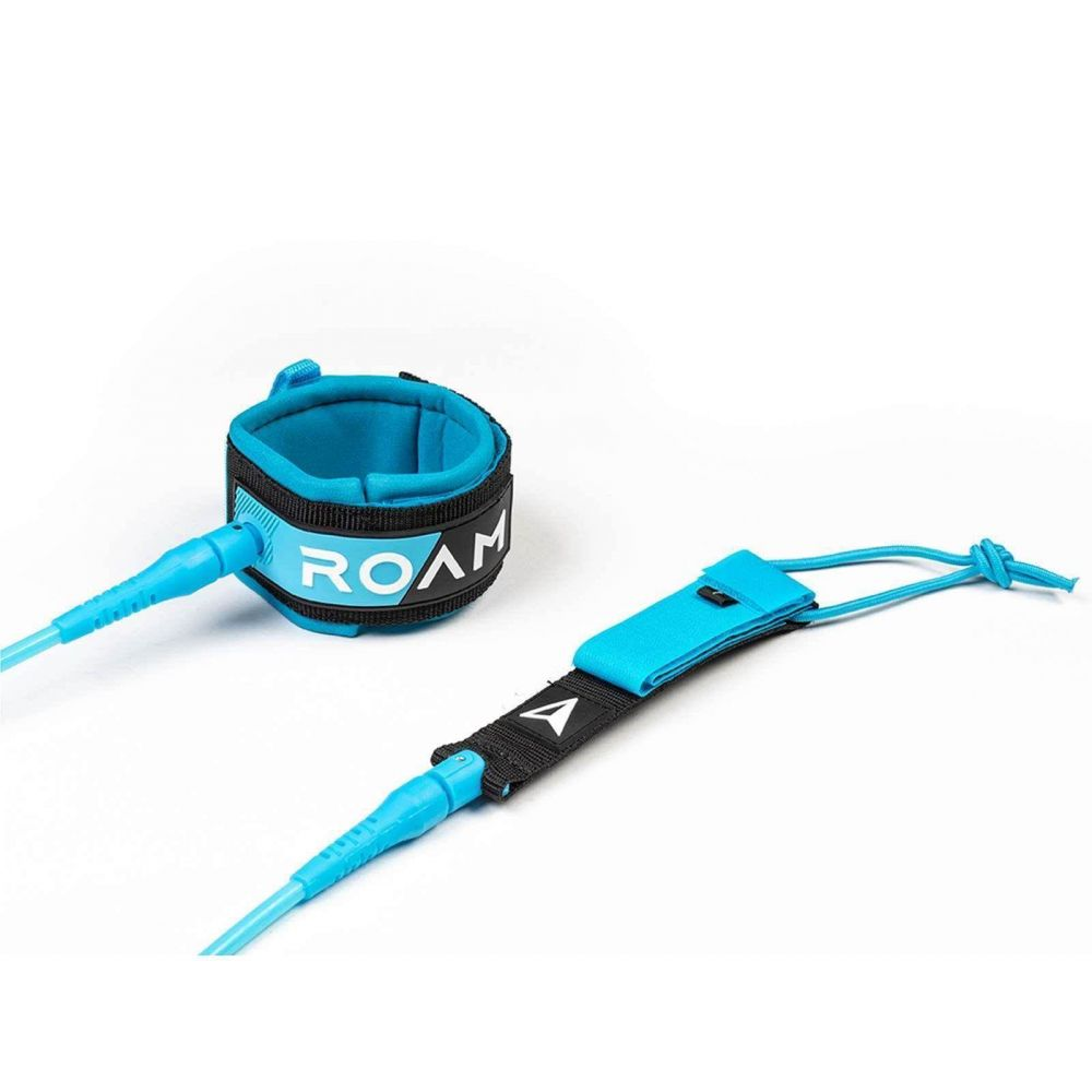 ROAM Surfboard Leash Premium 8.0 244cm 7mm Blue
