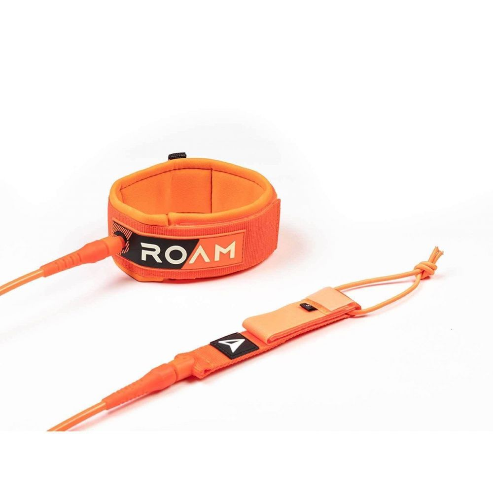 ROAM Surfboard Leash Premium 9.0 Calf 7mm Orange