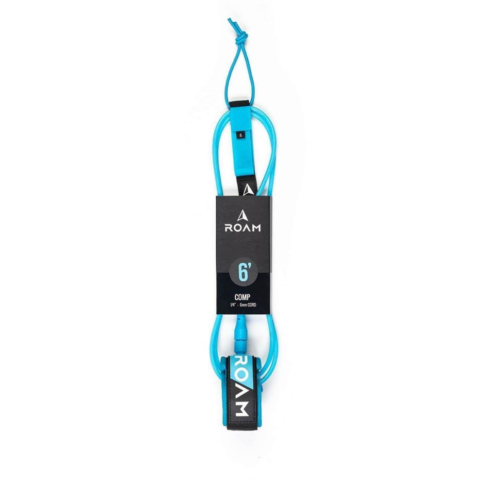 ROAM Surfboard Leash Comp 6.0 183cm 6mm Blue