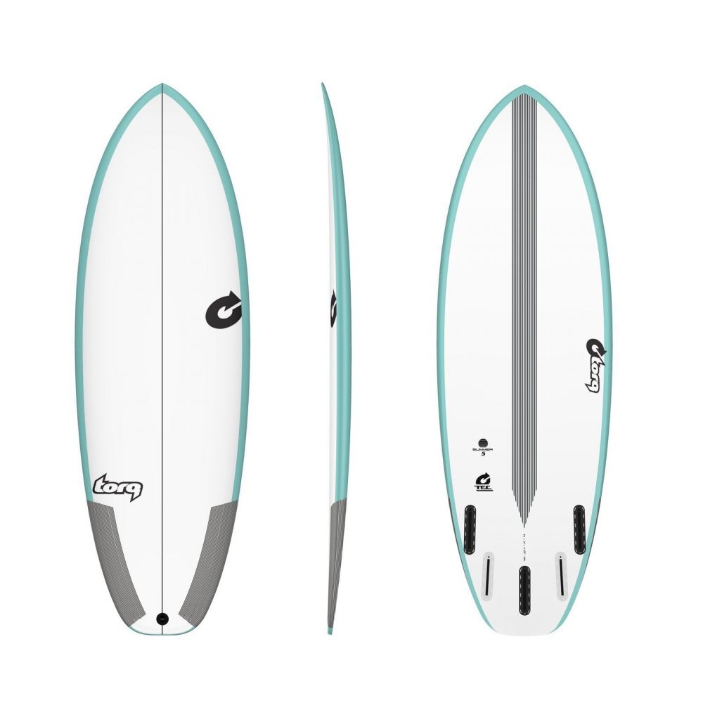 Surfboard TORQ TEC Summer 5  5.6 rail green