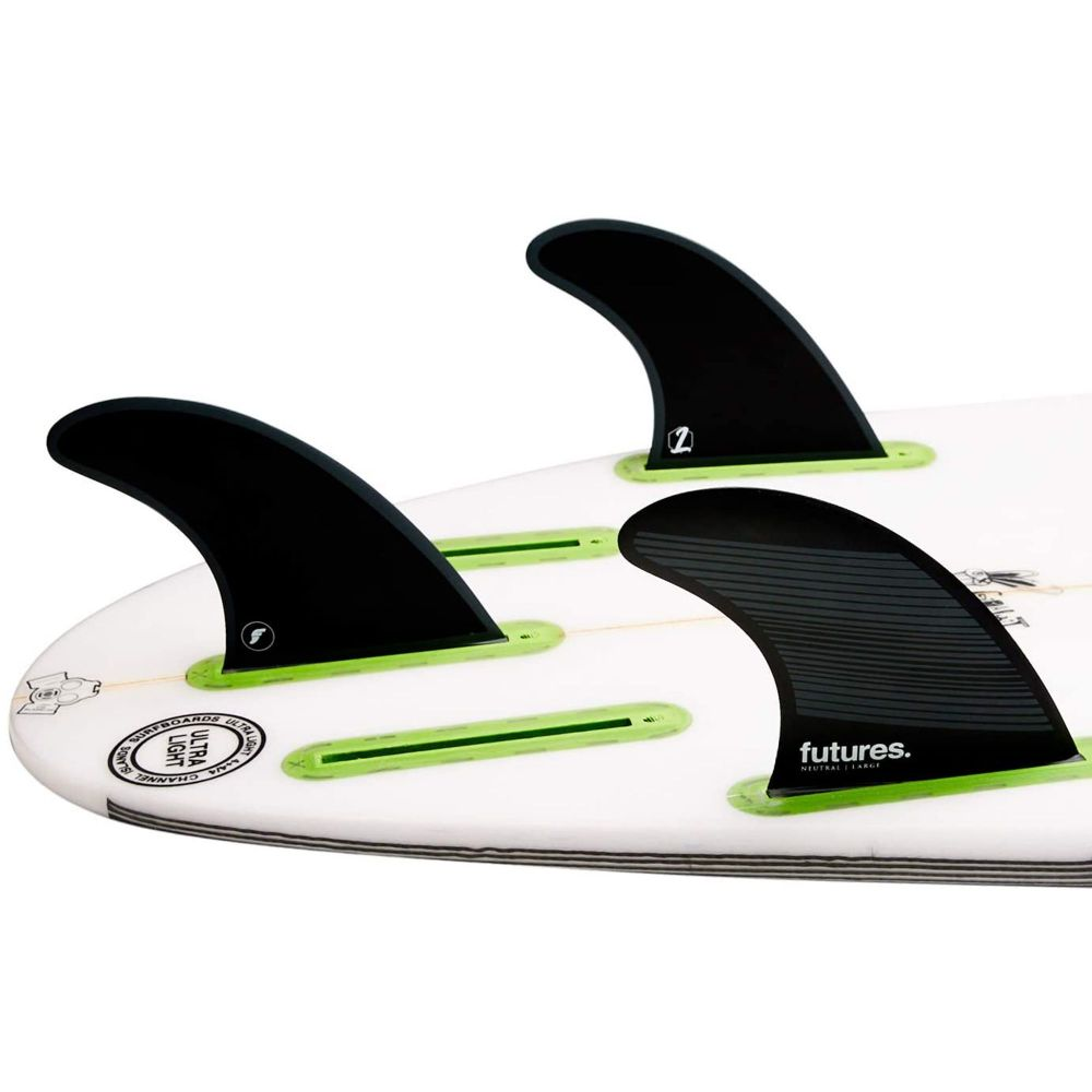 FUTURES  Fins Quad Thruster 5 Fin Set F8 Legacy