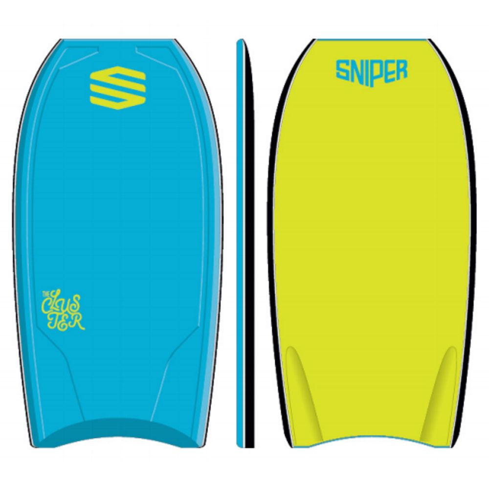 SNIPER Bodyboard Cluster PE 40 Blue Yellow