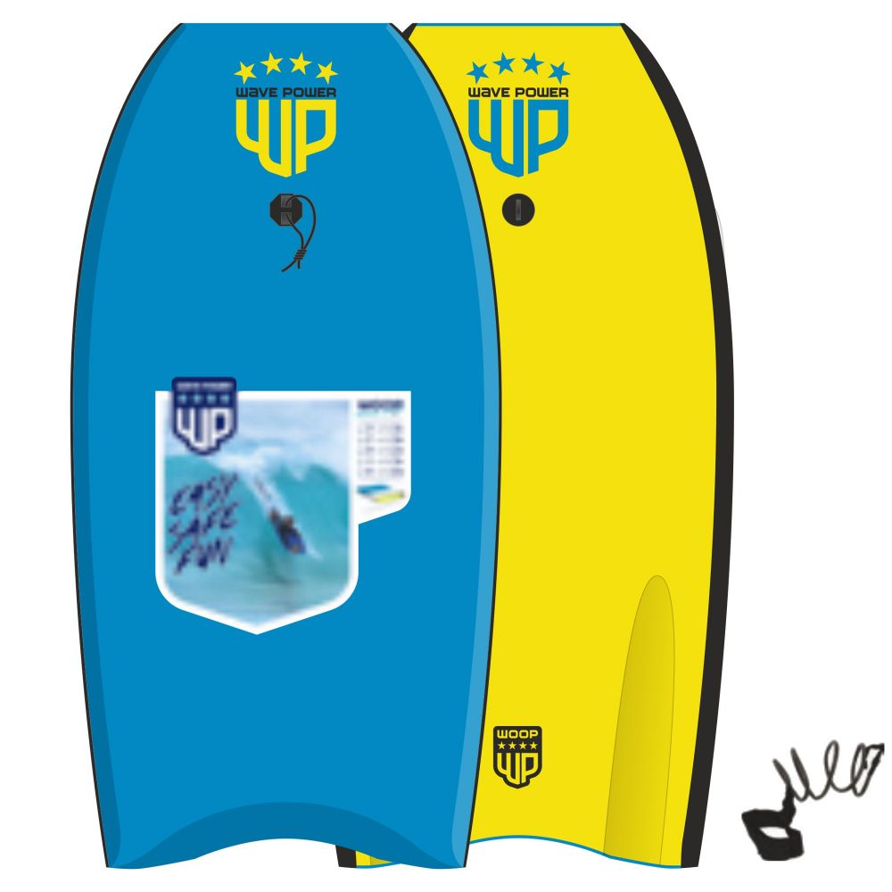 Wave Power Bodyboard Woop 39 Blue Yellow