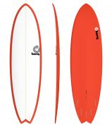Surfboard TORQ Epoxy 6.10 Fish white red