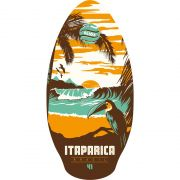 Skimboard SLIDZ 41  105cm Itaparica Orange-Aqua