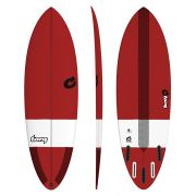 Surfboard TORQ TEC Hybrid 6.4 red