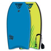FLOOD Bodyboard Streak 41 Blue-Yellow tiger